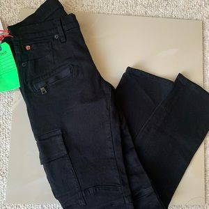 Hudson black cargo pants